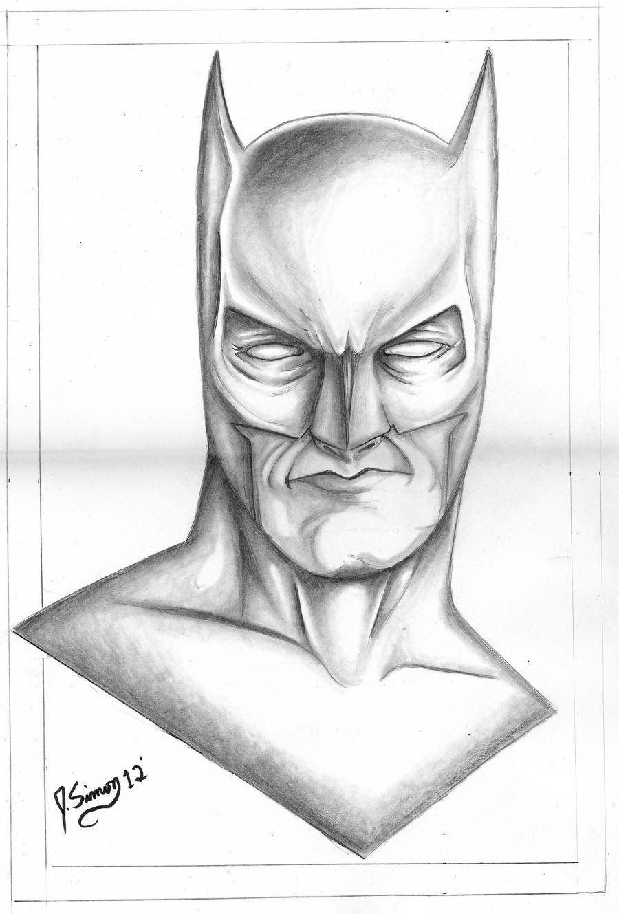 Drawing Smooth Lines With Cocos D : Batman pencil drawing by jsimonart on deviantart