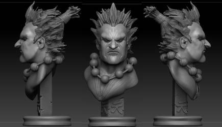 Zbrush Akuma Bust Sculpt finished by JSimonART