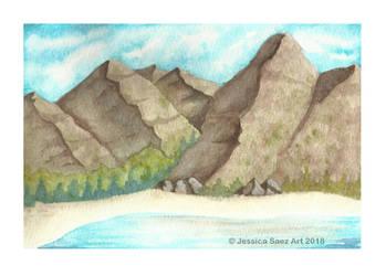Mountains by Pequena-Artista