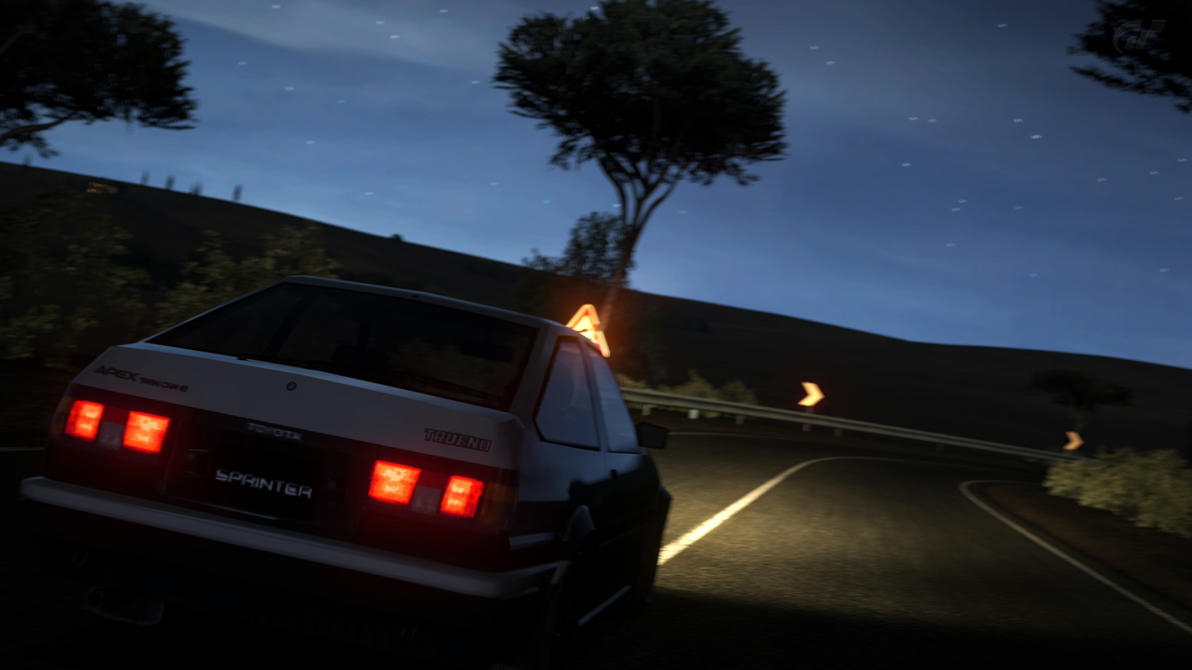 ae86 touge by ironcock on deviantart