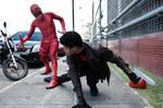 Daredevil Vs Red Hood - Struggle by CleytonAlves