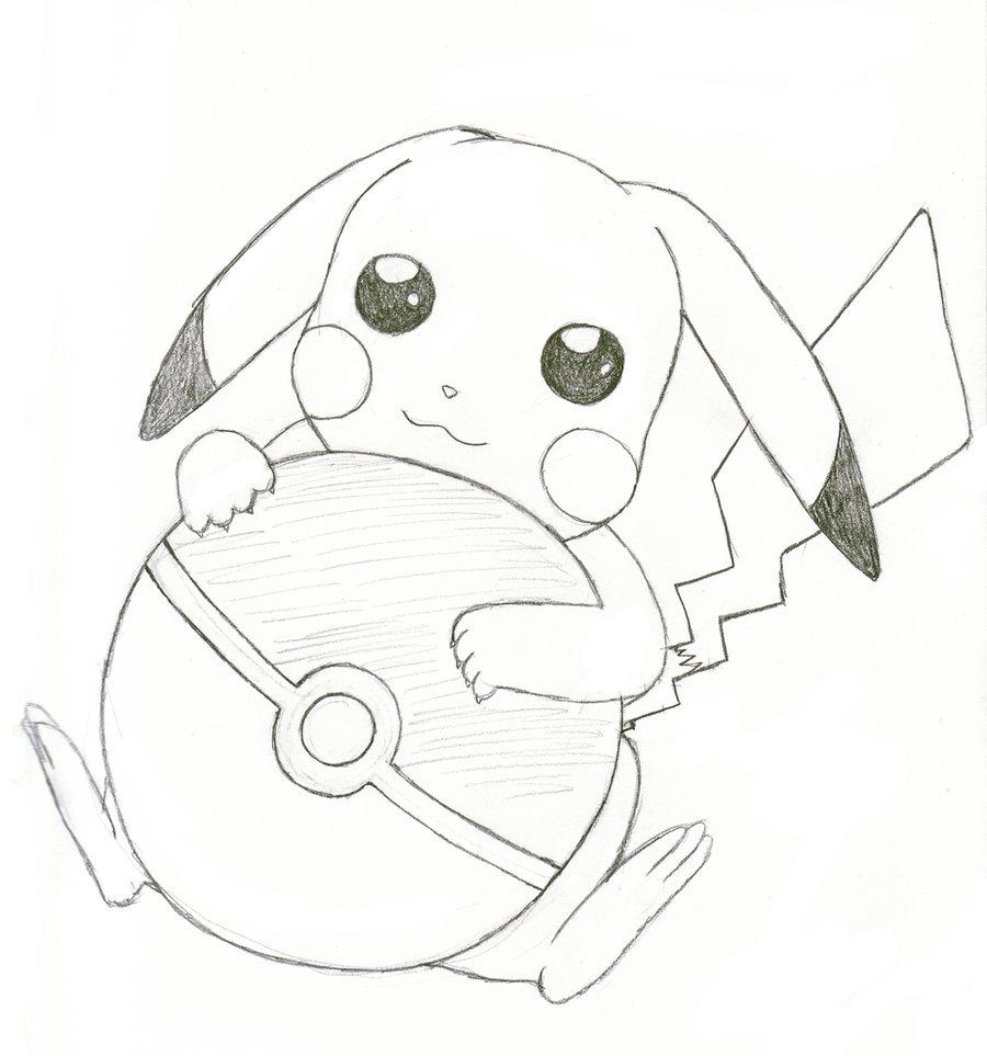 Cute easy drawings of pikachu for Cute simple drawings
