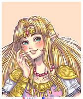 Princess Zelda SMASH BROS ULTIMATE by Zeldyy