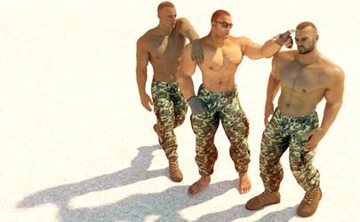 Three Desert Soldiers by desouzaofvegas