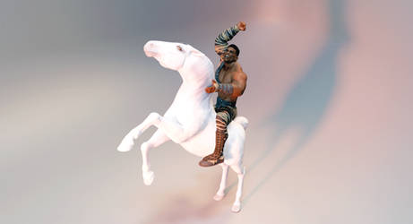 Black man white horse 031321