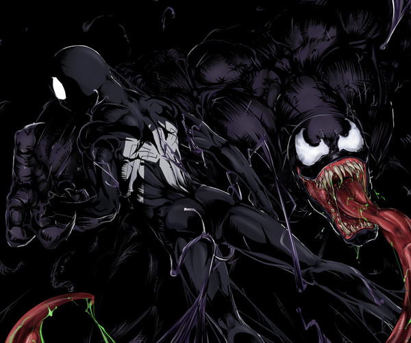 VENOM AND BLACK SPIDEY by thejigsawrlm on DeviantArt