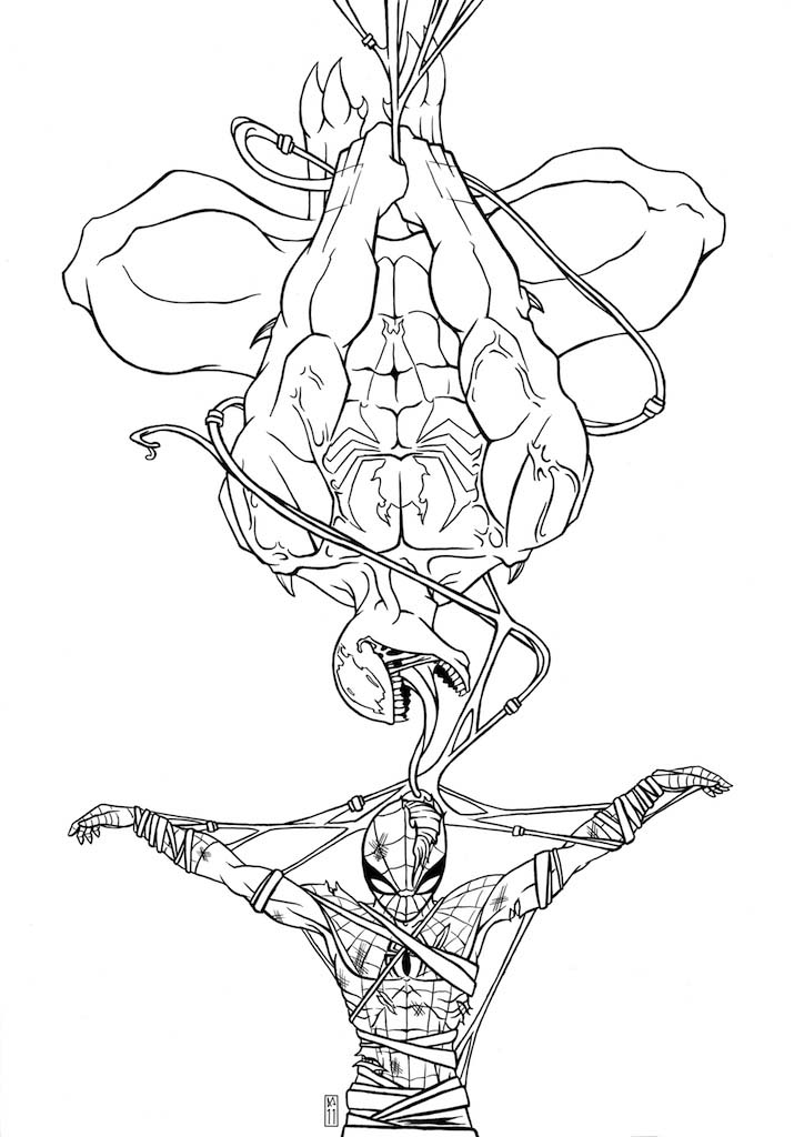 Carnage vs Venom Coloring Pages
