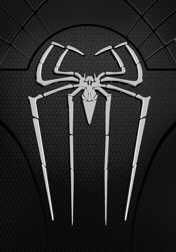 black suit spiderman symbol