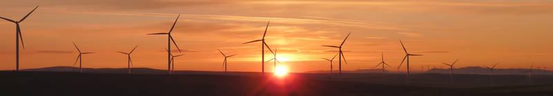 Wind Farm at Dusk by Little-Whittle