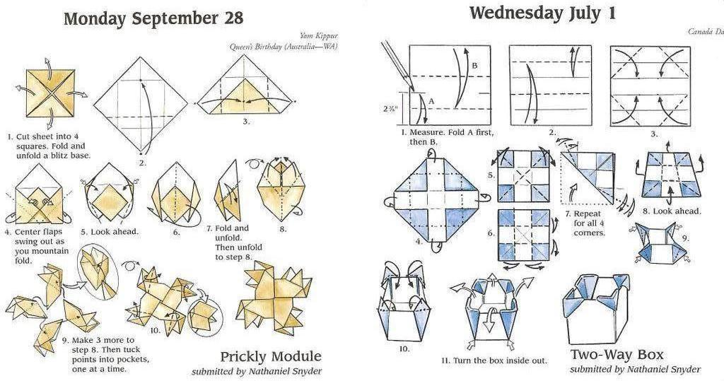 origami instructions art and craft ideas: easy origami diagrams | 539x1024