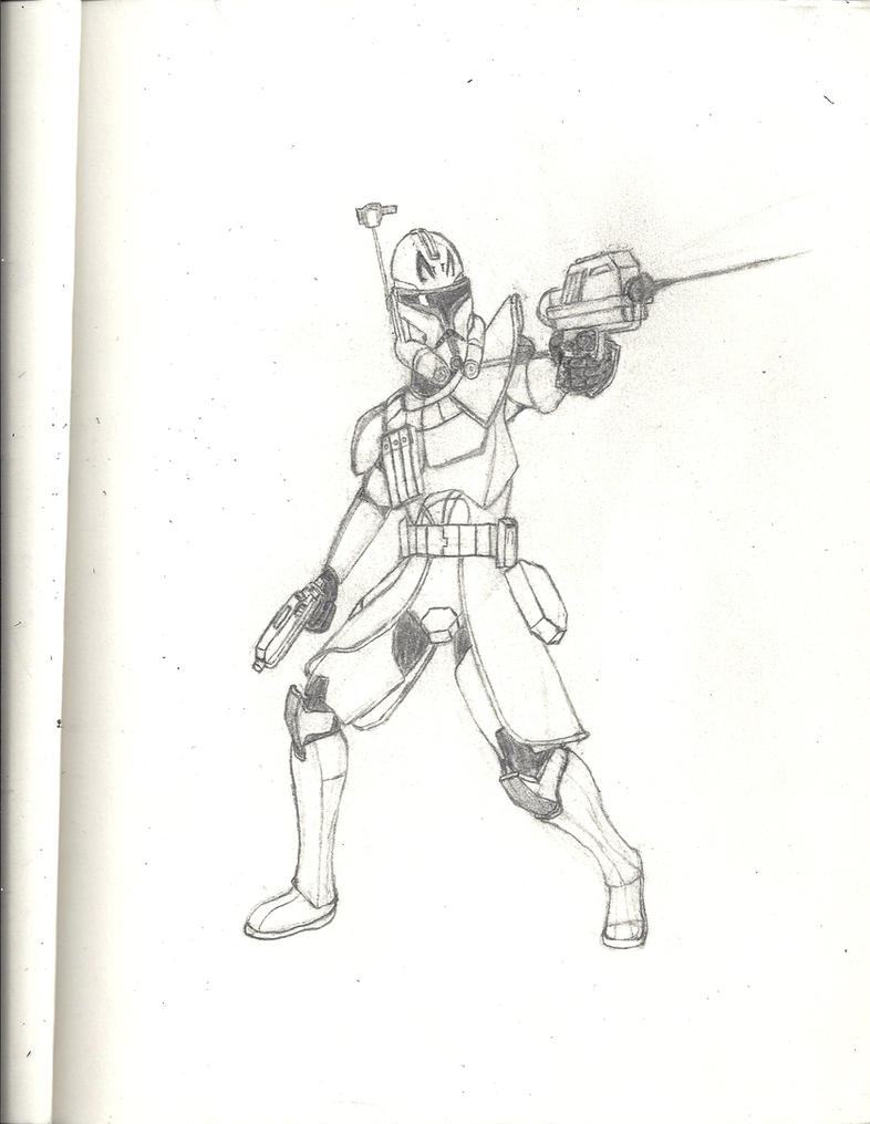 star wars the clone wars captain rex by sable the wolf on deviantart