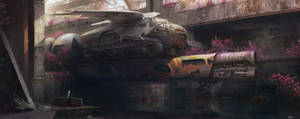 post-apocalyptic train or something i dont know