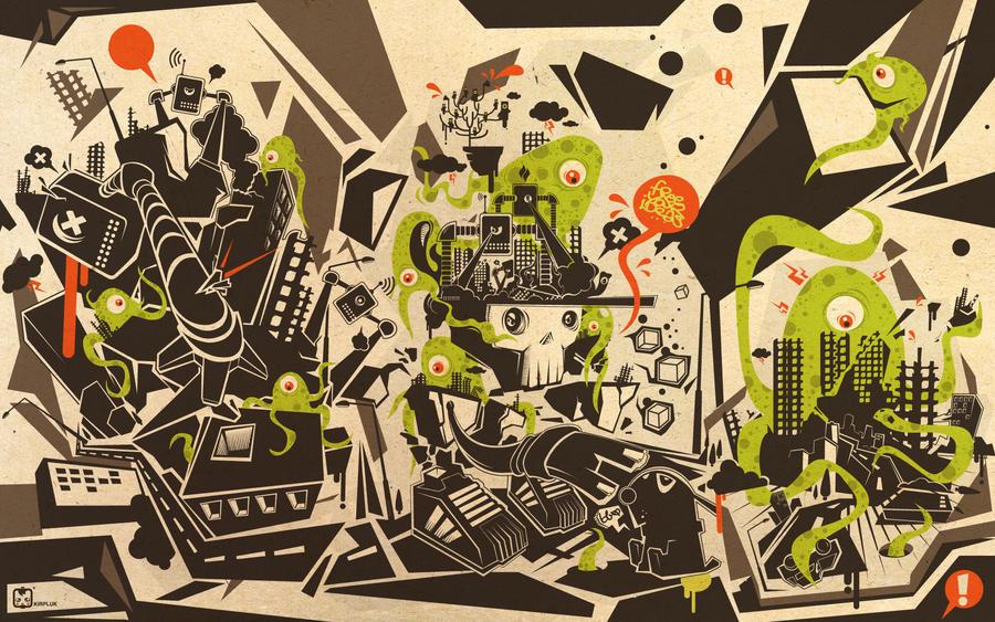 alien wallpaper by kirpluk