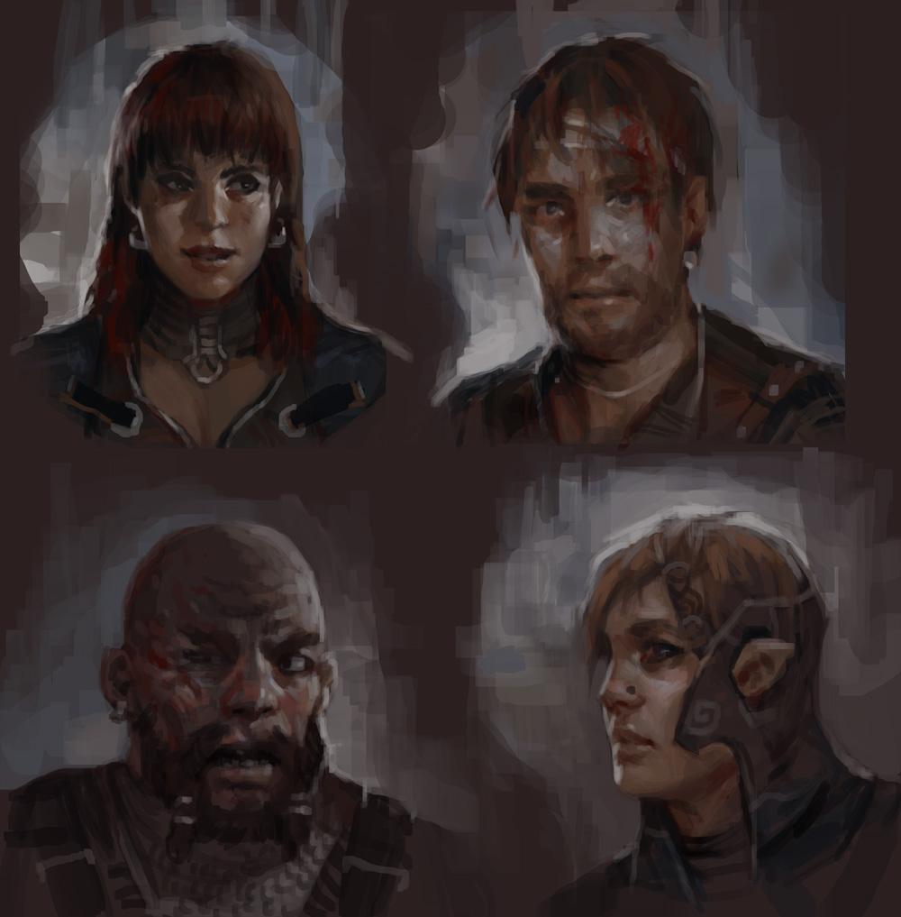 Fantasy portraits by KJKallio