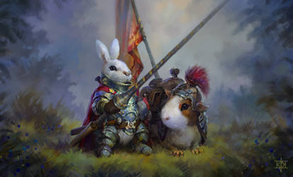Bunny Knight and Quinny Pig steed