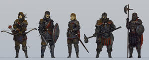 Medieval character concepts by KJKallio