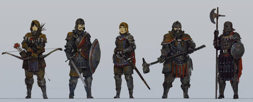 Medieval character concepts