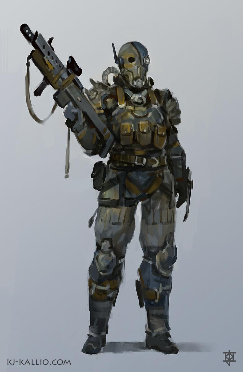 Raider character design by KJKallio
