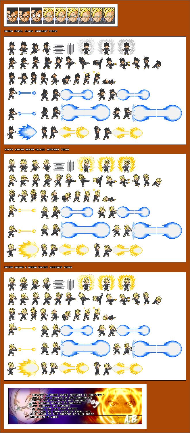 Dragon Ball Z Sprite Sheet
