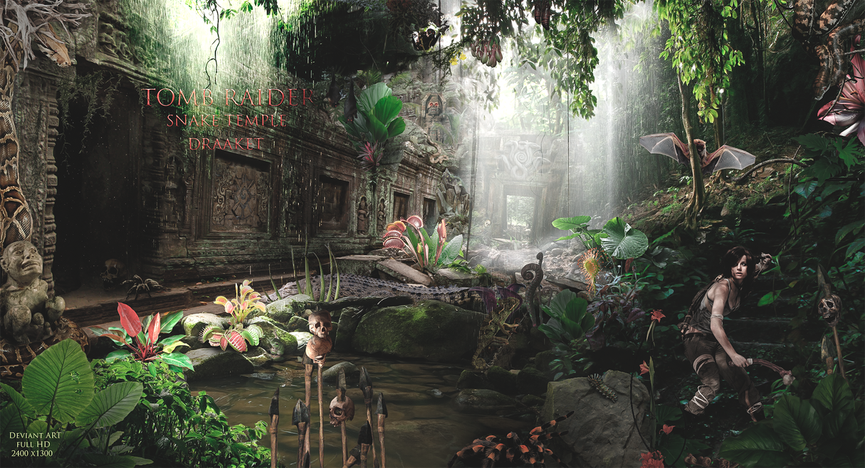 Tomb Raider Snake Temple by DraakeT by DraakeT