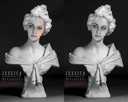 Sculpture bust Jessica Final by DraakeT by DraakeT