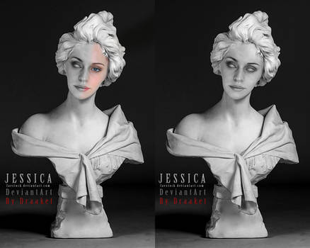 Sculpture bust Jessica Final by DraakeT