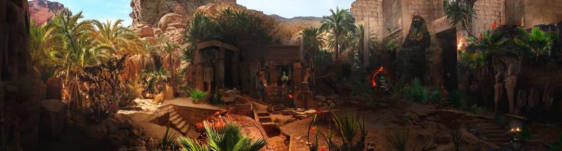 Egypt, 1820, western desert Dakla oasis