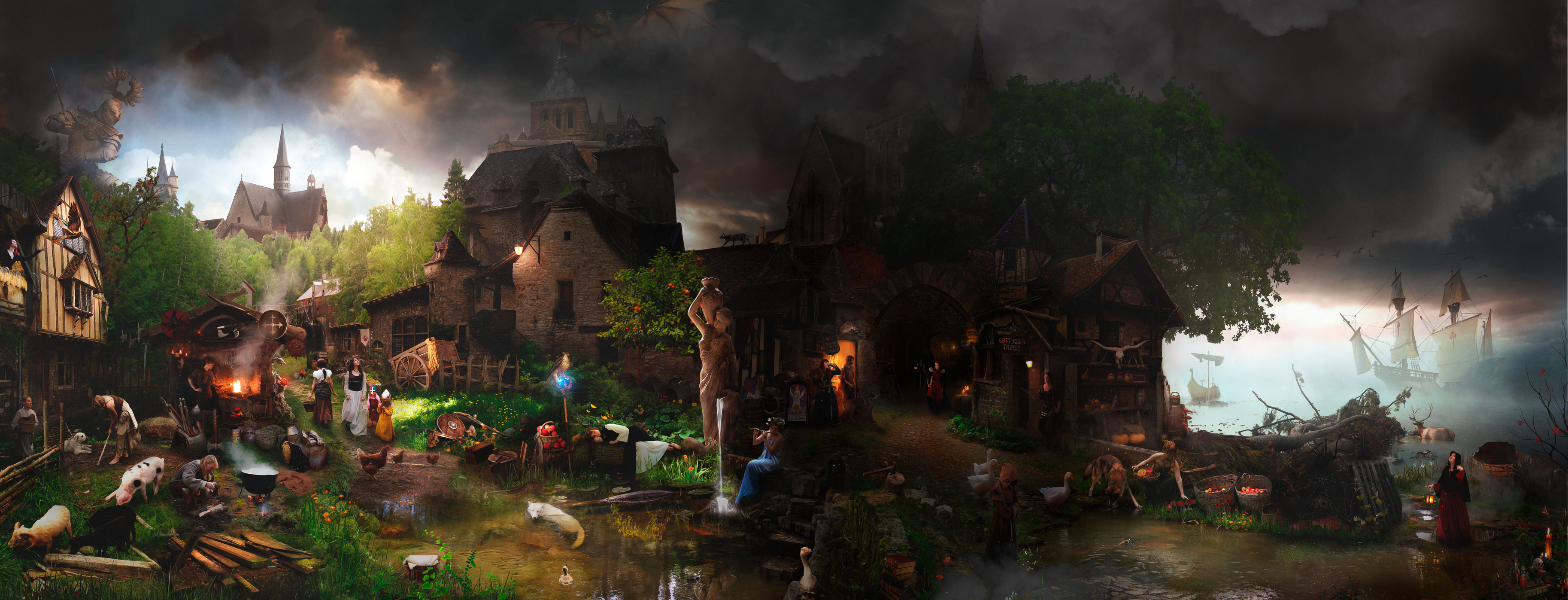 Andorhal Town by DraakeT