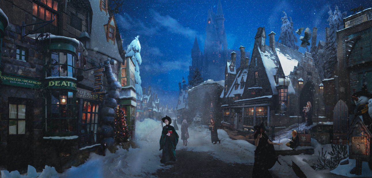 Hogsmeade before Christmas by DraakeT