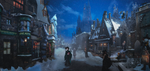 Hogsmeade before Christmas by DraakeT by DraakeT