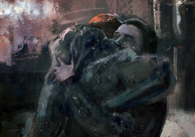 Sansa and Jon Sketch by Sacrilence