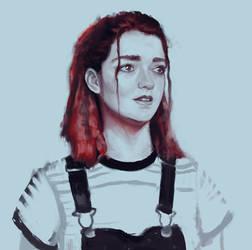 Maisie Williams Sketch by Sacrilence