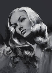 Veronica Lake, Value Study by Sacrilence