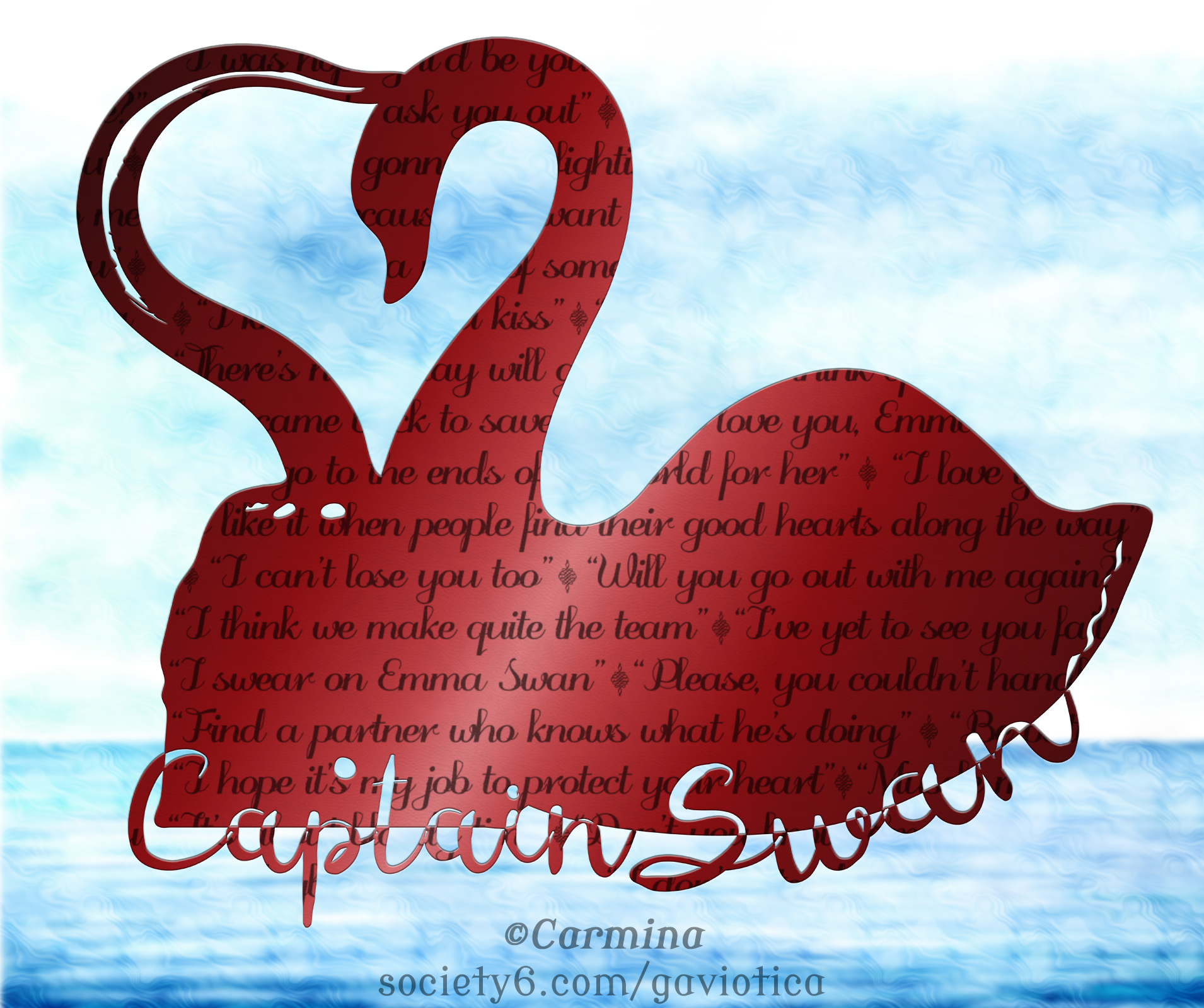 Captain Swan Silhouette With Quotes Wallpaper By Gaviotica31 On
