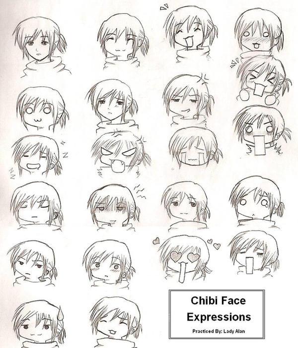 Chibi Expressions By Ladyalan On Deviantart