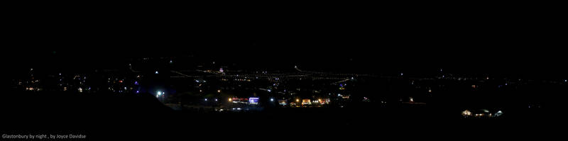 Glastonbury at night by Joy-of-markers
