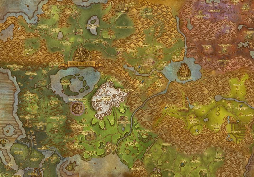Map of Lordaeron by jaero on DeviantArt