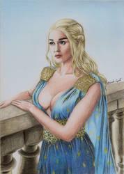 Daenerys Targaryen (drawing) by EduardoCopati