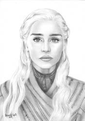 Daenerys Targaryen Drawing by EduardoCopati