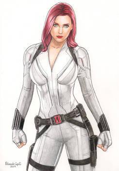 Black Widow - White costume drawing