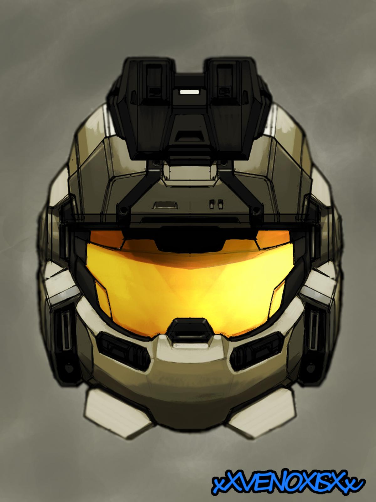 halo reach jorge helmet by xXVENOXISXx on DeviantArt