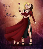 Aya and Melissa in Love by Nahemii