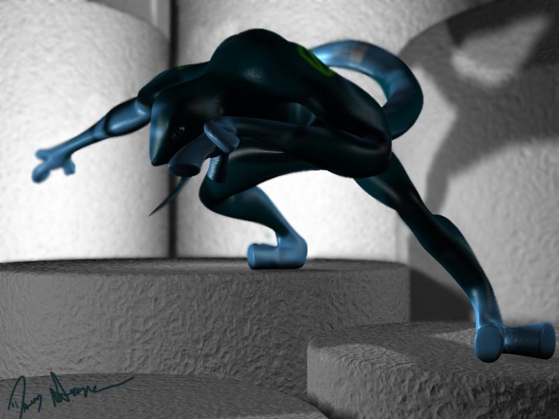 Cipher 3D render by saunteringstep