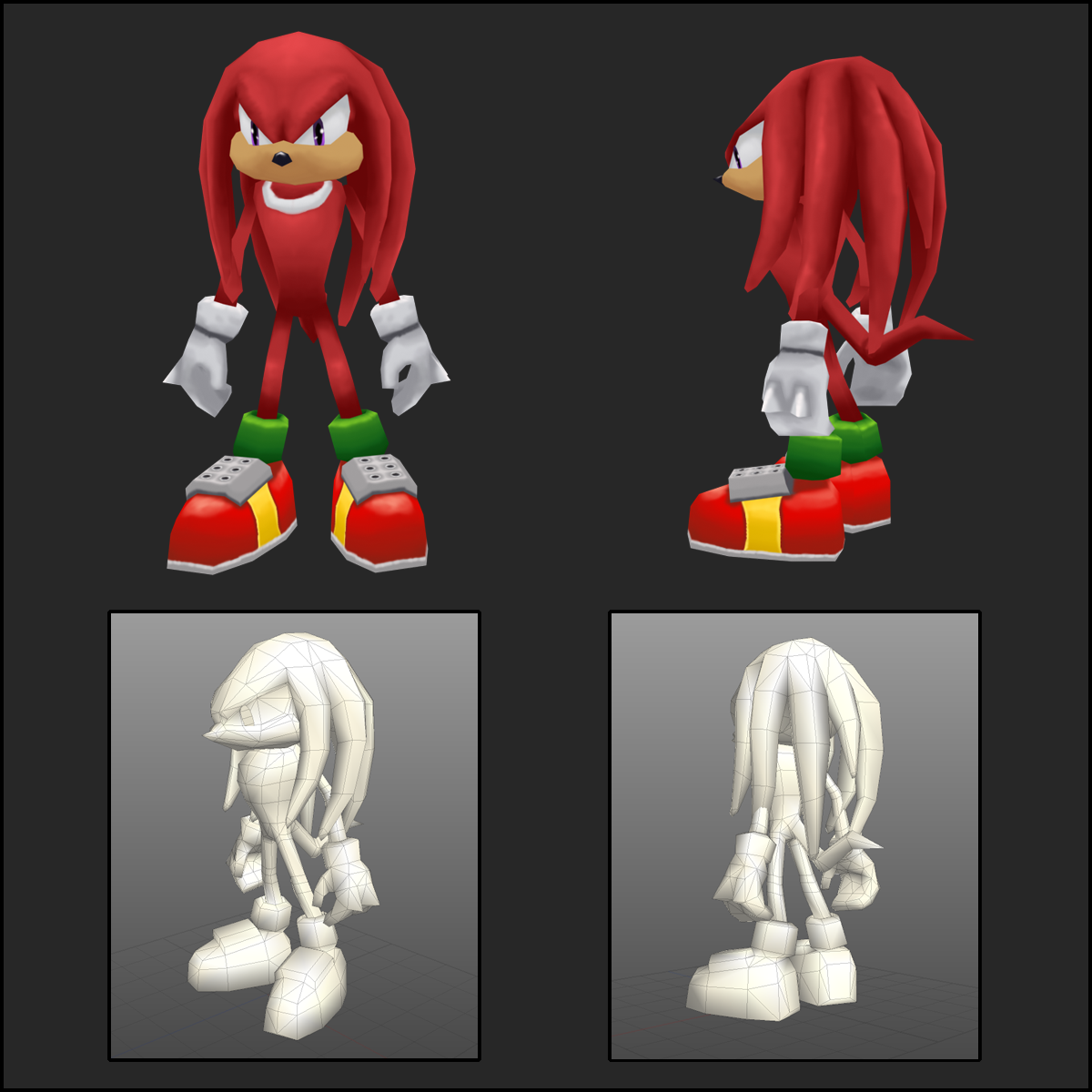 Knuckles - 3D by saunteringstep