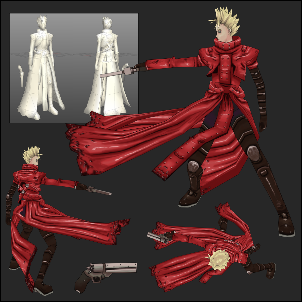 Vash the Stampede - 3D by saunteringstep