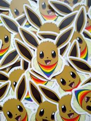 Eevee pride stickers for SALE