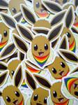 Eevee pride stickers for SALE (OPEN)