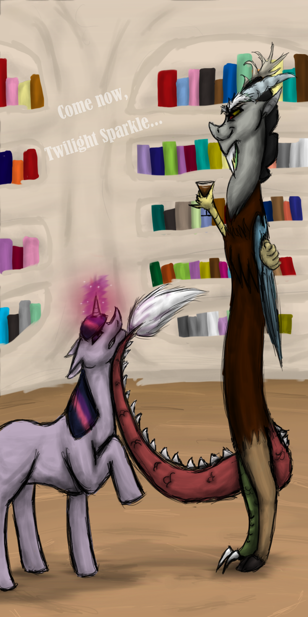 Twilight Sparkle And Discord In Love Discord and Twilight S...