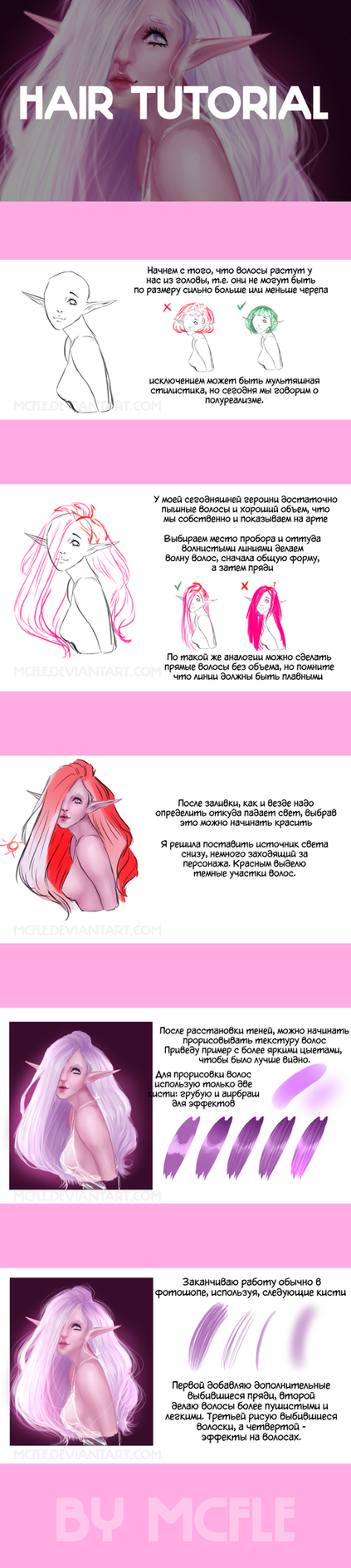 Hair tutorial | CSP + PS | RUS by mcfle