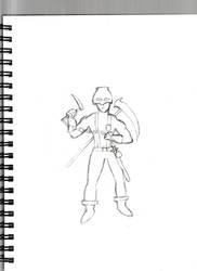 Original sketch-Dreadnought by genocidecutter